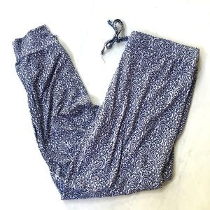 Tahari Pajama Lounge Bottoms NWT Black & White LG